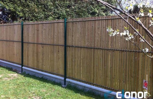 Système CLOPLUS 40 panneau Mixte Bois / Treillis